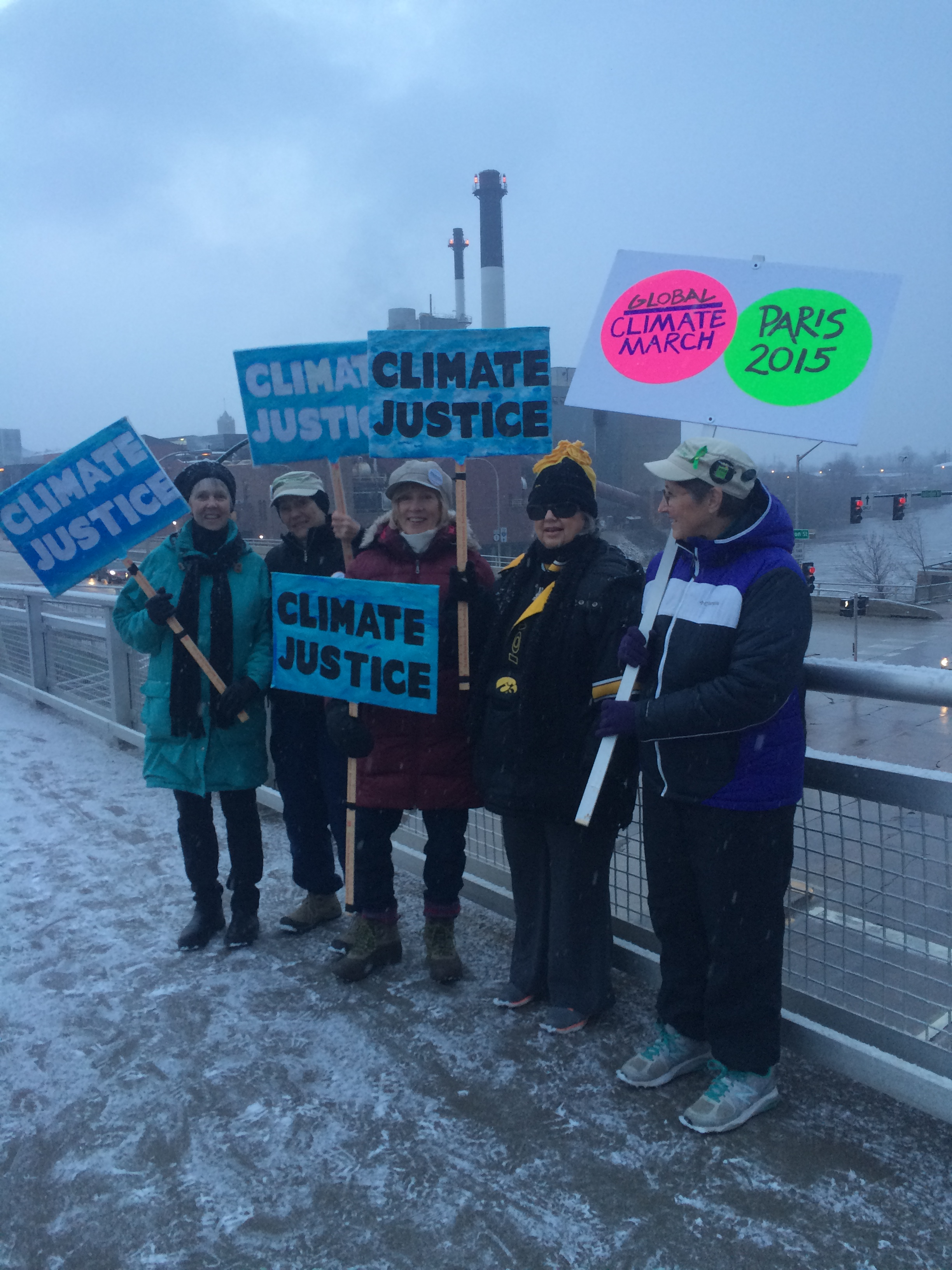 Climate Justice signs